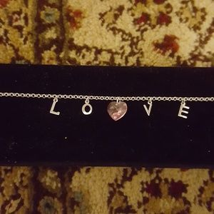 Jewelry - Love silver necklace